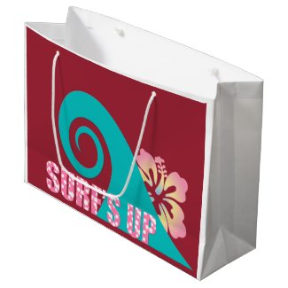 Surf's Up Gift Bag - Large, Glossy Large Gift Bag