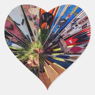 Surf's Up Heart Sticker