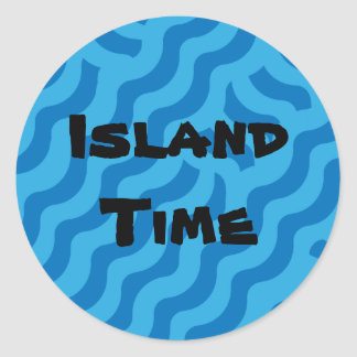 Surf's Up - Island Time Classic Round Sticker