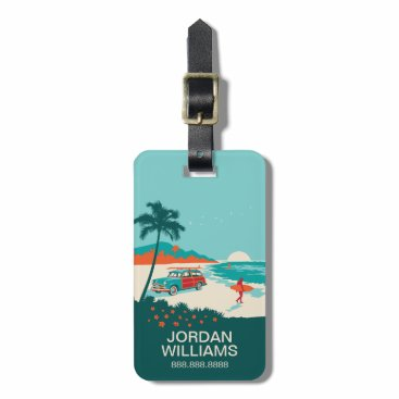 Beach Themed Surf's Up Luggage Tag