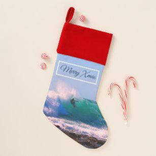Surfboard Christmas Stocking Shark
