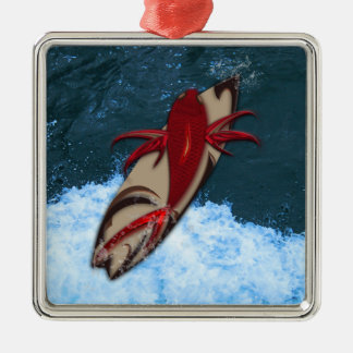 Surf's Up Metal Ornament