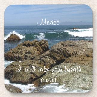 Surf's Up; Mexico Souvenir Coaster