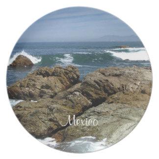 Surf's Up; Mexico Souvenir Dinner Plate