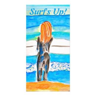 Surf's Up! Custom Photo Card