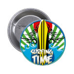 surf's up pinback buttons