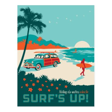 Beach Themed Surf's Up Postcard