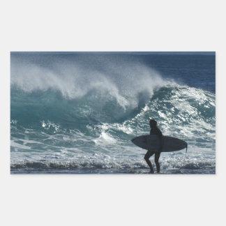 Surfs Up Rectangular Sticker