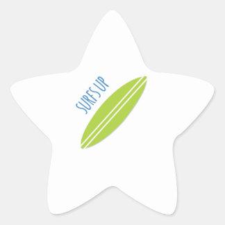 Surfs Up Star Sticker
