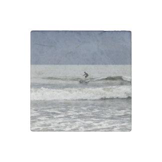 Surfs Up Stone Magnet