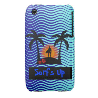 Surf's Up Surfer Black, Baby Blue, Navy, Gold, Red iPhone 3 Covers