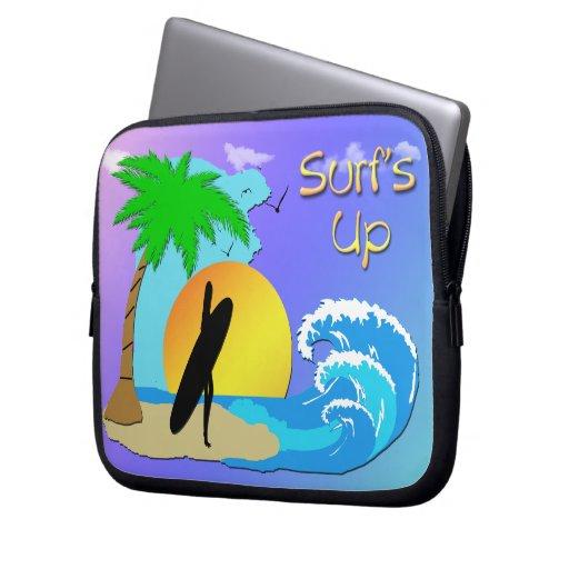 """Surfs Up - Surfer Girl 10"""" Electronics Bag Laptop Sleeve"""