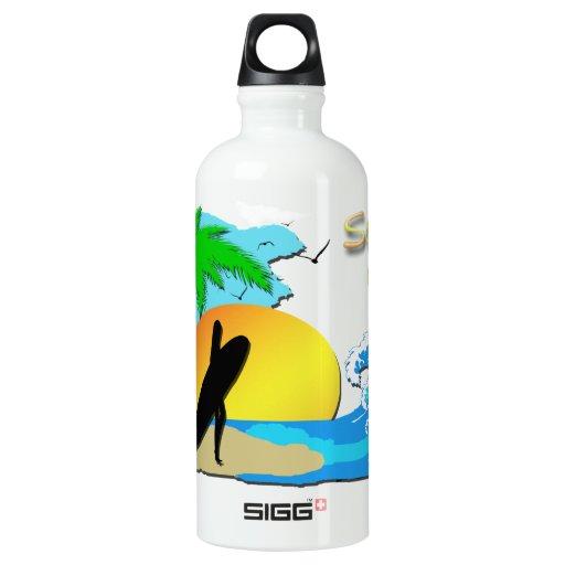 Surfs Up - Surfer Girl 24oz Liberty Bottle SIGG Traveler 0.6L Water Bottle