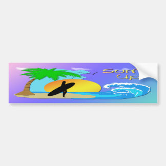 Surfs Up - Surfer Girl Bumper Sticker