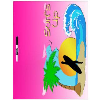 Surfs Up - Surfer Girl Dry Earse Board 1