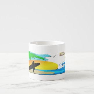 Surfs Up - Surfer Girl Espresso Specialty Mug Espresso Cups