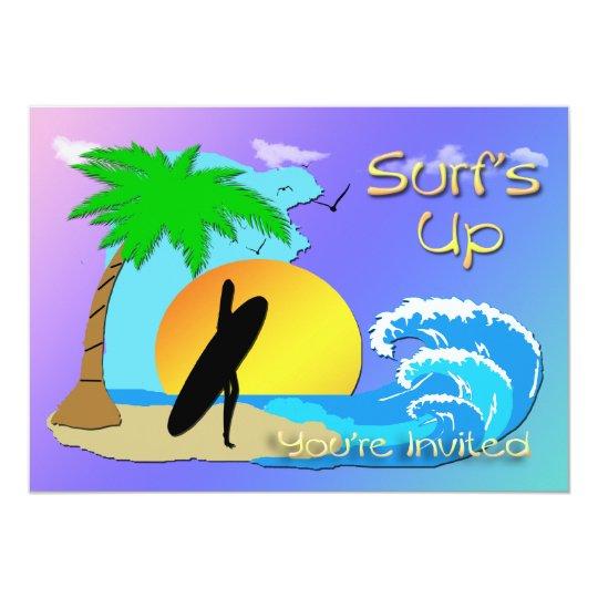 Surfs Up - Surfer Girl Invitation