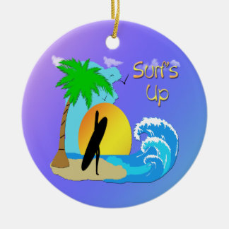 Surfs Up - Surfer Girl Ornament