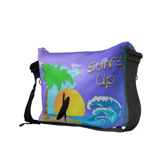 Surfs Up - Surfer Girl Rickshaw Messenger Bag