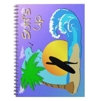 Surfs Up - Surfer Girl Spiral Notebook