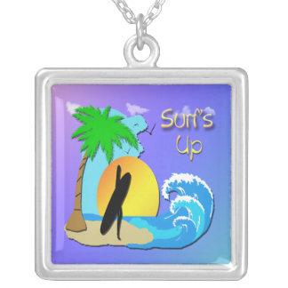 Surfs Up - Surfer Girl Square Necklace