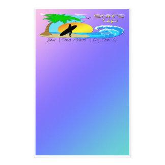 Surfs Up - Surfer Girl Stationery