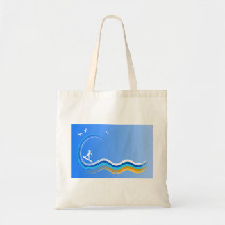 Surf's Up Surfer Surfing Surf Budget Tote Bags