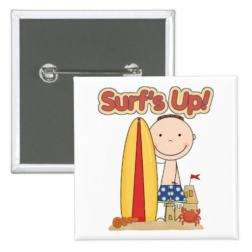 Surf's Up Surfing Gift Buttons