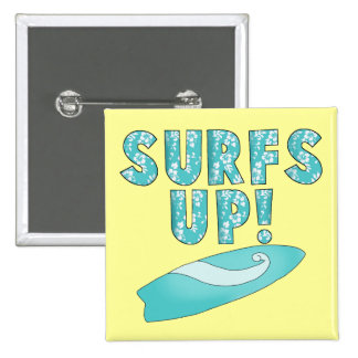 Surfs Up T-shirts and Gifts Pinback Button