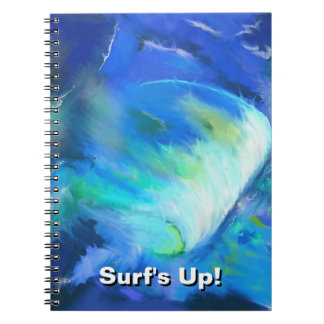 Surf's Up - The Wave - Digital Abstract Painting Notebook