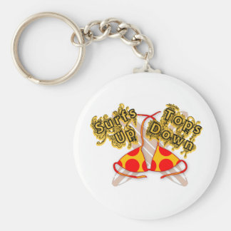 Surfs up Tops down Key Chain