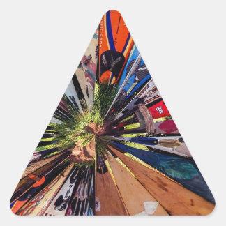 Surf's Up Triangle Sticker
