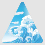 Surf's Up Triangle Stickers