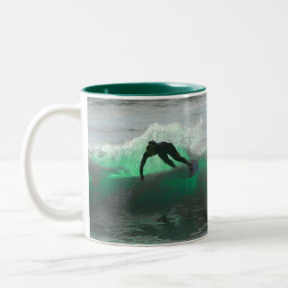 Surf's up! Two-Tone coffee mug