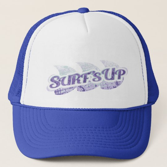 Surf's Up two tone hat purple, green & white
