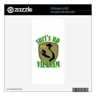 Surfs Up Vietnam Skin For iPhone 4S