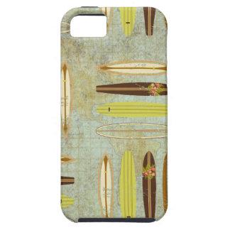 Surf's up! Vintage, distressed surfboard design iPhone SE/5/5s Case