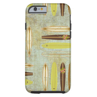 Surf's up! Vintage, distressed surfboard design Tough iPhone 6 Case