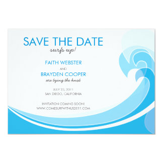Surfs Up! Wedding Save the Date Personalized Announcements