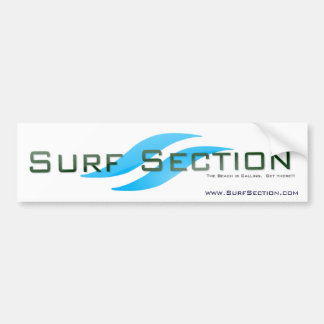 SurfSection.com Online Surf Shop Bumper Sticker