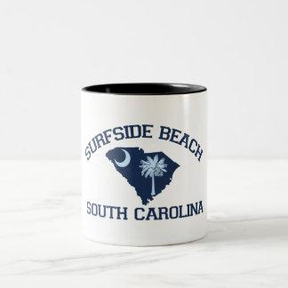 Surfside Beach. Two-Tone Coffee Mug