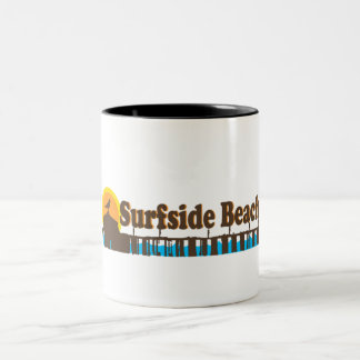 Surfside Beach. Two-Tone Coffee Mug
