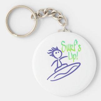 SurfsUp! Basic Round Button Keychain