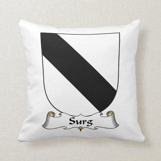 Surg Family Crest Throw Pillow