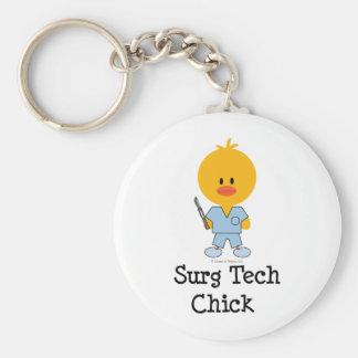 Surg Tech Chick Keychain  Keychain