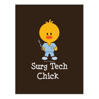 Surg Tech Chick Postcard