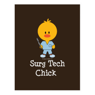 Surg Tech Chick Postcard  Postcard