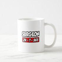 Surgeon 24-7-365 classic white coffee mug