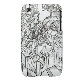 Surgeon and assistants visit a badly wounded man, iPhone 3 Case-Mate case