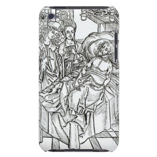 Surgeon and assistants visit a badly wounded man, iPod Case-Mate case